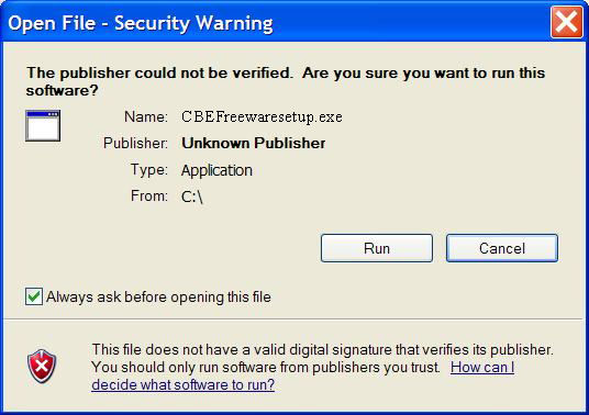 how to allow unknown publisher in windows 10
